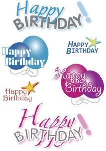 Naklejki HERMA Decor 3408 urodzinowe napisy x1