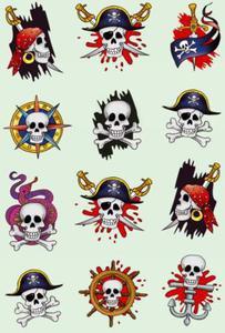 Naklejki HERMA Decor 3448 czaszki piratów x1