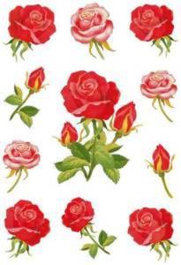 Naklejki HERMA Decor 3581 róże z łodygami x1 - 2824963632