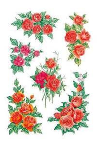 Naklejki HERMA Decor 3809 róże czerwone bukiet x1