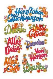 Naklejki HERMA Decor 3813 niemieckie napisy x1
