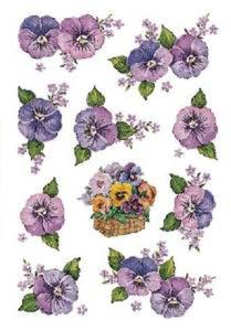 Naklejki HERMA Decor 3818 bratki fioletowe x1