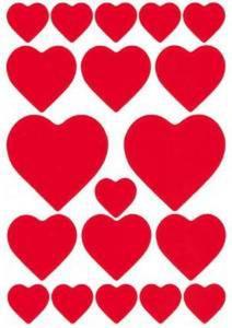 Naklejki HERMA Decor 3827 serca czerwone duże x1