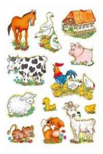 Naklejki HERMA Decor 5419 zwierzęta wiejskie x1 - 2824963641