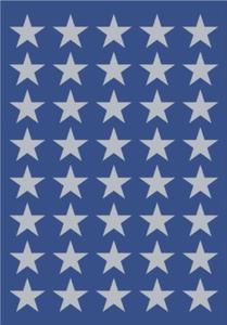Naklejki HERMA Decor 3417 gwiazdki srebrne 9 x1