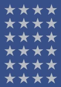 Naklejki HERMA Decor 3418 gwiazdki srebrne 10 x1