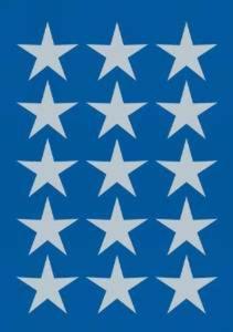 Naklejki HERMA Decor 3419 gwiazdki srebrne 11 x1