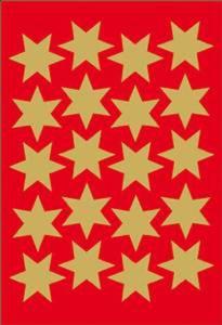 Naklejki HERMA Decor 3905 gwiazdki złote 21 mm x1