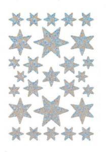 Naklejki HERMA Decor 3917 gwiazdki srebrne x1