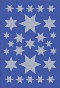 Naklejki HERMA Decor 3928 gwiazdki srebrne x1