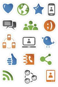 Naklejki HERMA Magic 3232 ikony, buźki, telefony