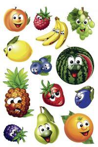 Naklejki HERMA Magic 3233 owoce z buźkami x1