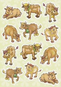 Naklejki HERMA Magic 3262 krowy na pastwisku x1