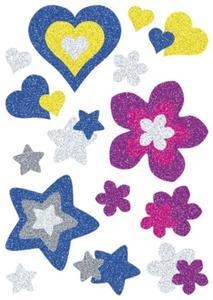 Naklejki HERMA Magic 3272 kwiaty i serca brokatowe