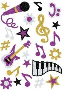 Naklejki HERMA Magic 3276 muzyczne motywy brokat