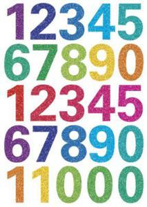 Naklejki HERMA Magic 3279 cyfry cyferki brokatowe