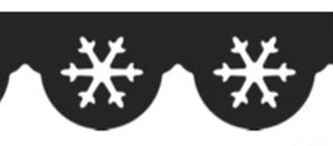 Dziurkacz brzegowy Heyda - 86 Śnieżynki x1