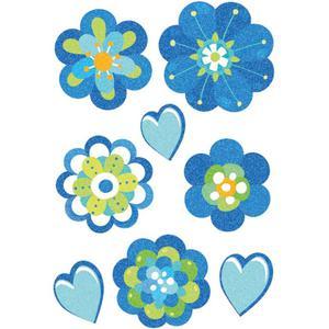Naklejki HERMA Magic 3706 Niebieskie kwiaty, serca