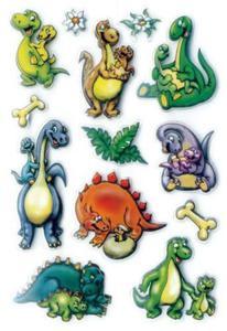 Naklejki HERMA Magic 6023 dinozaury małe 3D x1