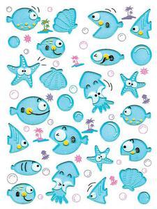 Naklejki HERMA Magic 6109 ryby, rybki niebieskie