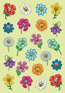 Naklejki HERMA Magic 6262 wesołe kwiatki z oczkami
