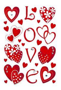 Naklejki HERMA Magic 6287 serca czerwone love x1