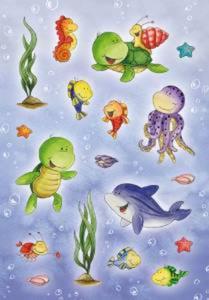 Naklejki HERMA Magic 6397 zwierzątka wodne x1