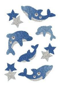 Naklejki HERMA Magic 6436 delfiny brokatowe x1