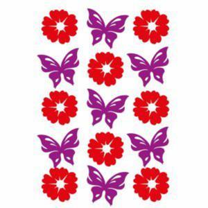 Naklejki HERMA Magic 6438 kwiaty i motyle z filcu