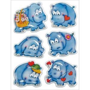 Naklejki HERMA Magic 6843 hipopotamy x1