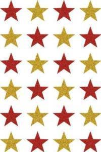 Naklejki HERMA Magic 3732 gwiazdy złoto-czerwone
