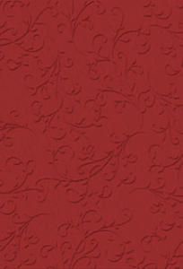 Karton A4 220g Heyda tłoczony Ornament czerwony x1