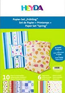 Zestaw kalek i papierów Heyda Paper Set - Wiosna - 2824963929
