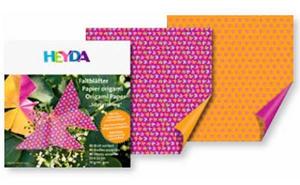 Papier do origami 15x15cm Heyda motylki,kwiaty x40