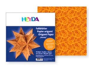 Papier do origami 15x15cm Heyda gwiazdy pom/czer