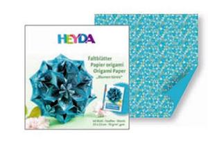 Papier do origami 20x20cm Heyda turkus x64