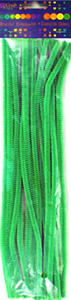 Druciki kreatywne chenille 30cm zielone x25