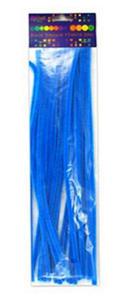 Druciki kreatywne chenille 30cm niebieskie x25 - 2824963989