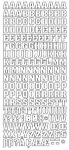 Sticker srebrny 10810 - alfabet x1