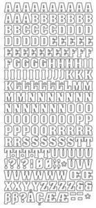 Sticker złoty 01081 - alfabet x1
