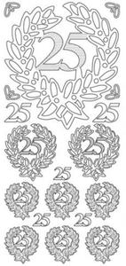 Sticker srebrny 10815 - 25 lat x1