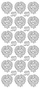 Sticker srebrny 13280 - 50 lat x1