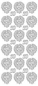 Sticker złoty 13280 - 50 lat x1