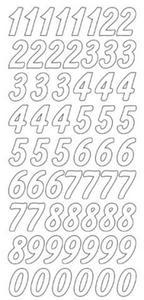 Sticker srebrny 12440 - duże cyfry x1