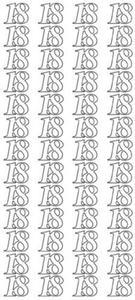 """Sticker srebrny 23170 - """"18"""" x1 - 2824964066"""