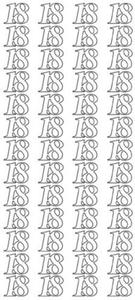 """Sticker srebrny 23170 - """"18"""" x1"""