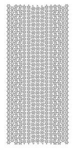 Sticker złoty 13210 - szlaczki gwiazdki x1