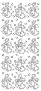 Sticker srebrny 03580 - dzwonki x1