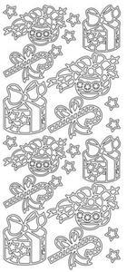 Sticker złoty 04400 - prezenty x1 - 2846498321