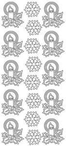 Sticker srebrny 21630 - stroiki (R457) x1